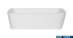 Besco Assos S-Line B&W umywalka nablatowa biało-czarna 40x50x15cm #UMD-AP-NB