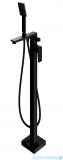 Omnires Parma bateria wannowa wolnostojąca kompletna czarna PM7433BL