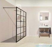 Kermi kabina Walk-in Dark Edition 90x200 cm kratka dekoracyjna profil XDWW2090203PK