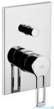 Paffoni Ringo-West Bateria podtynkowa z przełącznikiem chrom RIN015CR