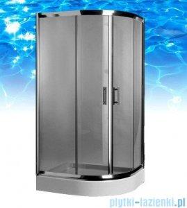 Omnires Health kabina 2-skrzydłowa lewa JK28 80x100x185cm szkło grafit JK2808/10LGrafit