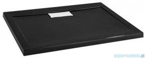 Polimat Comfort brodzik akrylowy posadzkowy 100x90 czarny połysk 00185