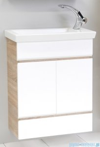 Antado Gabi szafka z umywalką 56x30cm dąb Sonoma+biały GBY-140/60-3025/WS+UCS-IS-60