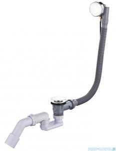 Oltens Oster syfon wannowy automatyczny z pokrętłem chrom 03001100
