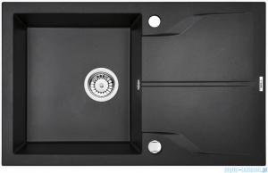 Deante Andante zlewozmywak 1-komorowy z ociekaczem 78x49 cm grafit metalik ZQN G113