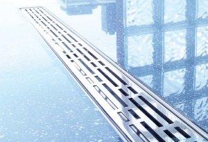 Tece Ruszt prosty Basic ze stali nierdzewnej Tecedrainline 150 cm stal szczotkowana 6.015.11