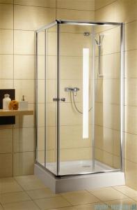 Radaway Classic C Kabina prysznicowa kwadratowa z drzwiami przesuwnymi 80x80 szkło satinato profile białe 30060-04-02