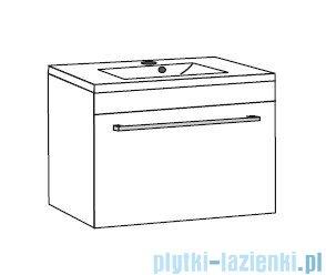 Antado Variete ceramic szafka z umywalką ceramiczną 72x43x40 szary połysk FM-AT-442/75GT-K917+UCS-AT-75
