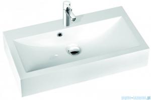 Marmorin umywalka nablatowa Ceto 80cm bez otworu biała 170080022010