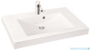 Marmorin umywalka nablatowa Moira Bis 90, 90 cm bez otworu biała 280090022010