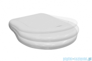 Kerasan Retro Deska sedesowa biała wolnoopadająca zawiasy chrom 108901