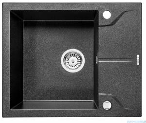 Deante Andante zlewozmywak 1-komorowy z krótkim ociekaczem 59x49 cm grafit metalik ZQN G11A