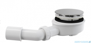 Alcaplast zestaw odpływowy dla brodzików Ø90 grubościennych, chrom A492CR