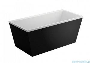 Polimat Lea obudowa wanny czarna 170x80cm 00996