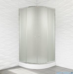 Duso kabina prysznicowa półokrągła 80x80x184 cm chinchilla DS401C