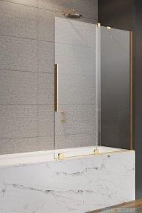 Radaway Furo Gold PND II parawan nawannowy 170cm prawy szkło przejrzyste 10109888-09-01R/10112844-01-01