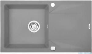 Deante Evora zlewozmywak 1-komorowy z ociekaczem szary metalik ZQJ S113