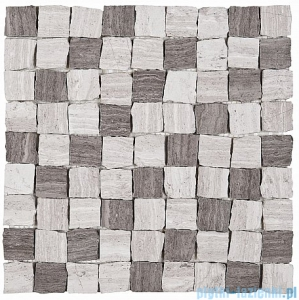 Dunin Woodstone mozaika kamienna 30x30 grey bend 32 matt