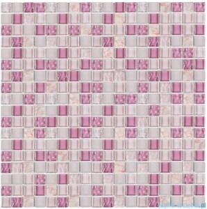 Dunin Aurora mozaika kamień/szkło 30x30 amethyst 15