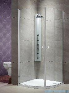 Radaway Eos PDD kabina prysznicowa 80x80 szkło przejrzyste + brodzik Delos A + syfon 37613-01-01N