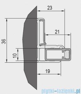 SanSwiss Cadura Gold Line zestaw montażowy do wnęki V2.CA.12