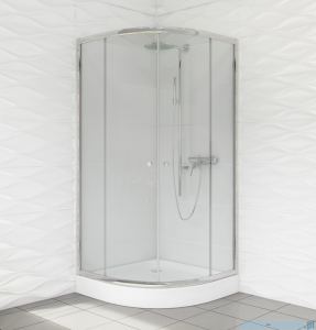Duso kabina prysznicowa półokrągła 90x90x184 cm przejrzyste DS402T