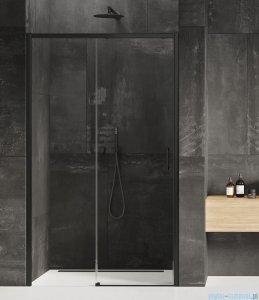 New Trendy Prime Black drzwi wnękowe pojedyncze 110x200 cm lewe przejrzyste D-0318A