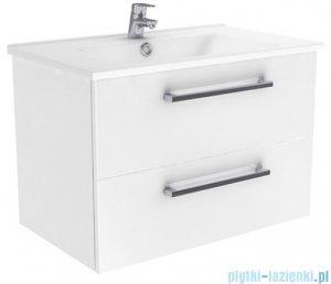 New Trendy Fargo szafka umywalkowa  75 + umywalka biały połysk ML-AR075