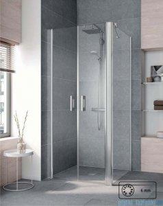 Kermi Pega Ściana boczna, szkło przezroczyste, profile srebrne 80x200cm PETWD08020VPK