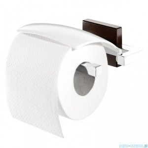 Tiger Zenna Uchwyt na papier toaletowy chrom/wenge/ceramika 3516.83