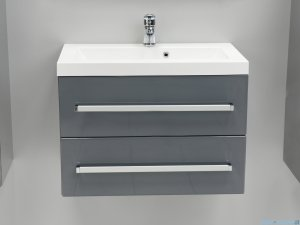Antado Variete szafka z umywalką, wisząca z dwiema szufladami 60x39x40 szary połysk FM-C-442/6/2GT-K917 + UMMC-600X390