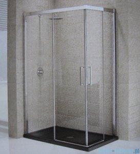 Novellini Elysium Kuadra A Ścianka prysznicowa 120cm lewa szkło przejrzyste profil chrom KUADA120LS-1K