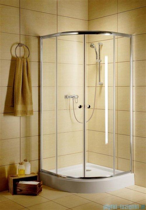 Radaway Classic A Kabina prysznicowa półokrągła z drzwiami przesuwnymi 80x80x185 szkło brązowe