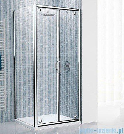 Novellini Drzwi prysznicowe składane LUNES B 66 cm szkło przejrzyste profil srebrny LUNESB66-1B