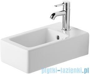 Duravit Vero umywalka mała z przelewem z półką na baterię 250x450 mm 070225 00 00