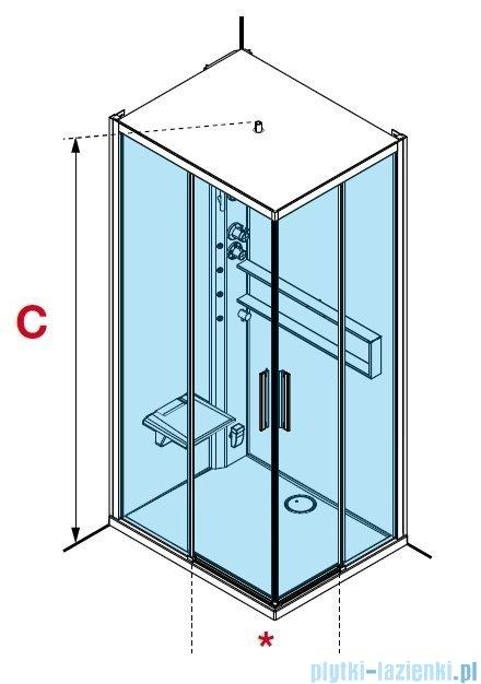 Novellini Glax 2 2.0 kabina z hydromasażem hydro plus 100x80 lewa total biała G22A198ST1L-1UU