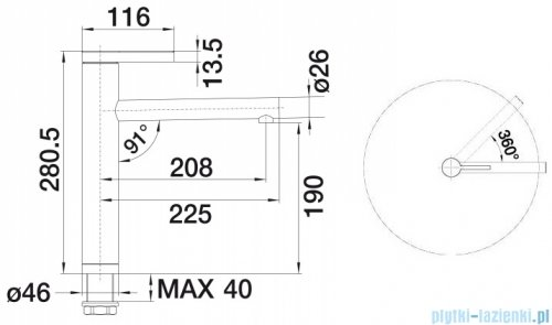 Blanco Linee bateria wysokociśnieniowa kolor: chrom  51759
