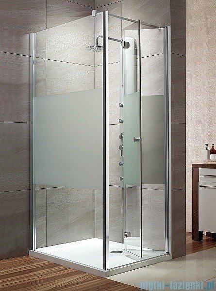 Radaway Eos KDJ-B kabina prysznicowa  80x80 prawa szkło intimato + brodzik Delos C + syfon