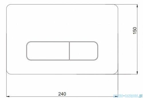 Koło Nova Pro przycisk spłukujący do WC chrom 94160-002