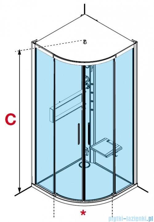 Novellini Glax 2 2.0 kabina z hydromasażem hydro plus 100x100 total biała G22R100M1L-1UU