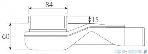 Wiper New Premium Tivano Odpływ liniowy z kołnierzem 120 cm szlif rysunek techniczny