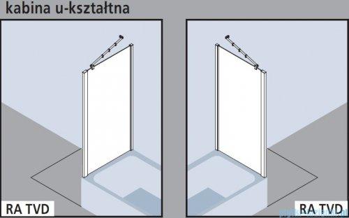 Kermi Raya Ściana boczna skrócona, szkło przezroczyste z KermiClean, profile srebrne 70x175 RATVD07017VPK