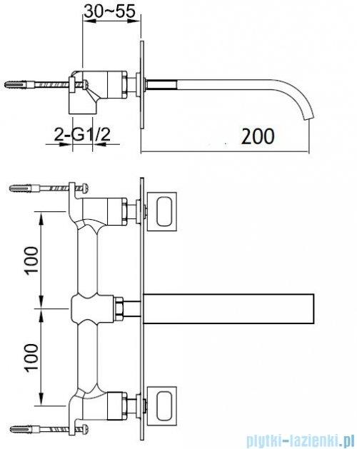Kohlman Nexen-S Podtynkowa bateria umywalkowa SQW198U