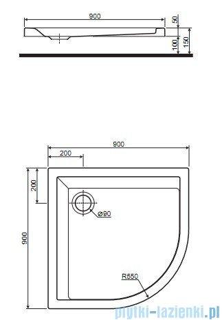 Koło Pacyfik Brodzik 90cm półokrągły XBN0790000
