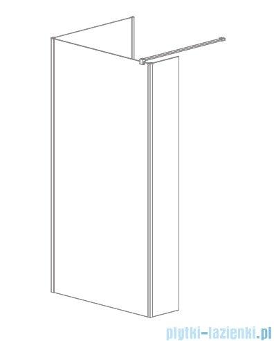 Radaway Modo New IV kabina Walk-in 80x75 szkło przejrzyste 389584-01-01/389075-01-01