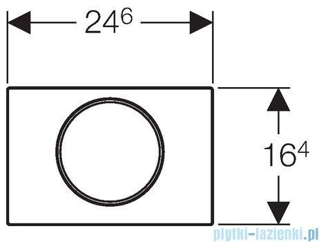 Geberit Sigma10 przycisk spłukujący biały/chrom matowy/chrom matowy 115.758.KL.5
