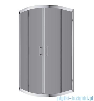 Omnires Health kabina 2-skrzydłowa 80x80x185cm szkło grafit JK2808LC4