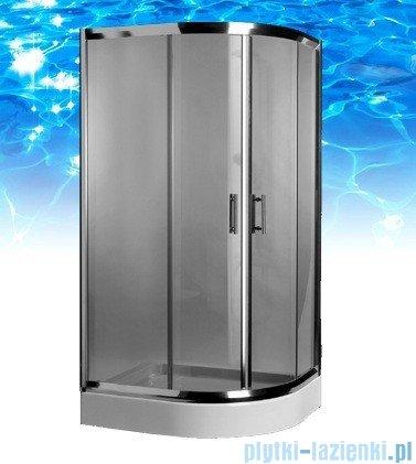 Omnires Health kabina 2-skrzydłowa lewa 80x100x185cm szkło grafit JK2808/10LGrafit