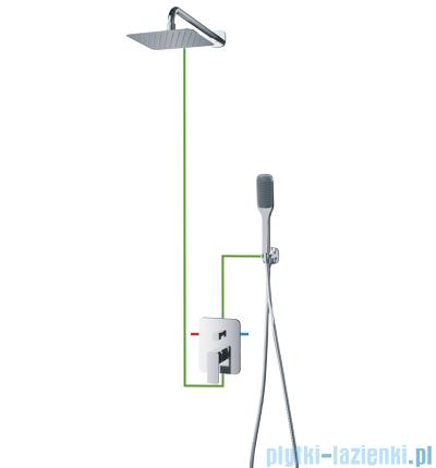 Omnires Apure SYS kompletny łazienkowy system podtynkowy chrom