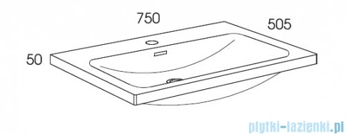 Elita Lofty szafka z umywalką 71x69x48cm light grey 167305/145370